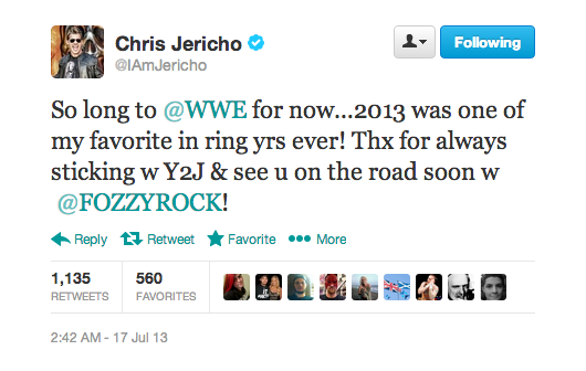 Jericho leaving WWE